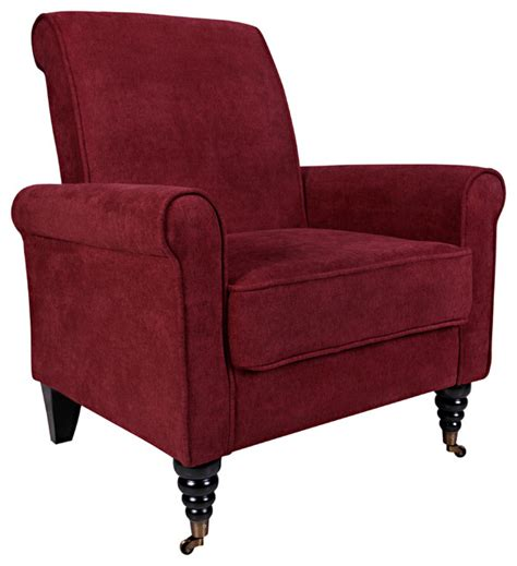 overstock armchairs portfolio hyde red wine arm chair contemporary