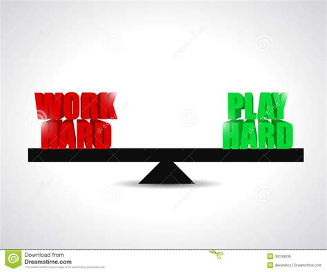 to play at a for work balance between work had and play concept royalty