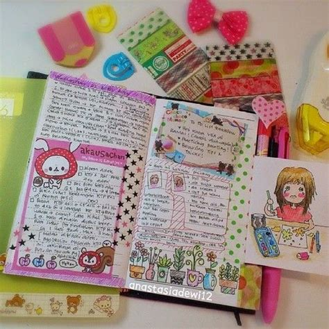 doodle agenda kawaii planner diary journal agenda draw