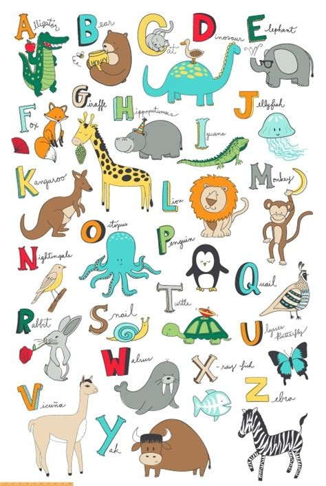 my words animals book abc s for alphabet book abc book baby book toddler book children book boys animal comics graphic color illustrations volume 1 books animal abcs 41322p x windham fabrics