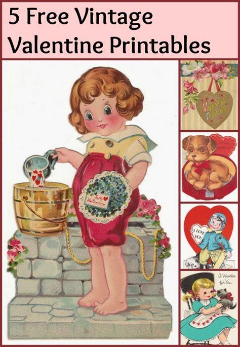 vintage valentines printables 4 u day cards