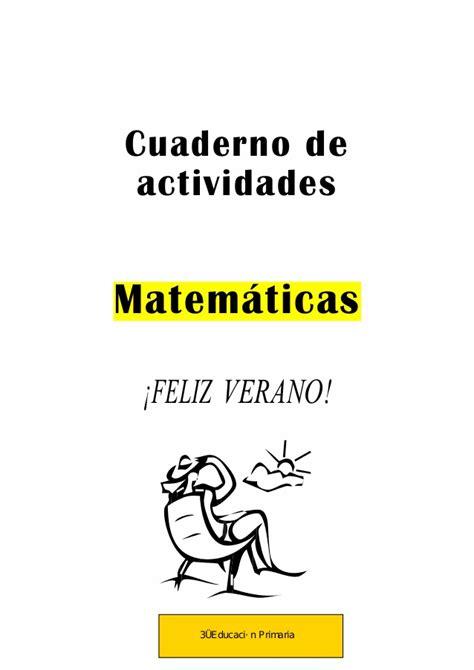 mi cuaderno de actividades 8408125176 cuaderno de 3ro vacaciones