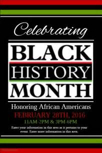 black history program template black history month template postermywall