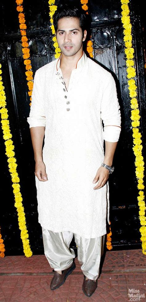 varun dhawan new style dresses at ekta kapoor s 2013 diwali party varun dhawan in a