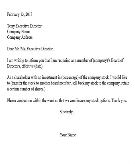 Resignation Letter Sle For Company Sle Corporate Resignation Letters 8 Free Sle