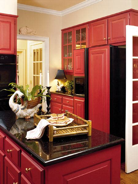 red and black kitchen cabinets red and black kitchen accessories design ideas small