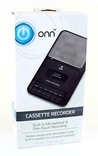 Onn Portable Cassette Recorder Showbox with External