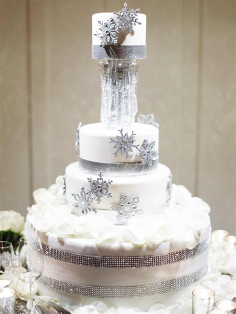 cakes desserts photos winter themed cake inside weddings