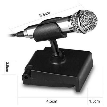 Mini Smartphone 3 5mm Microphone With Mic Stand Pink mini smartphone 3 5mm microphone with mic stand silver jakartanotebook