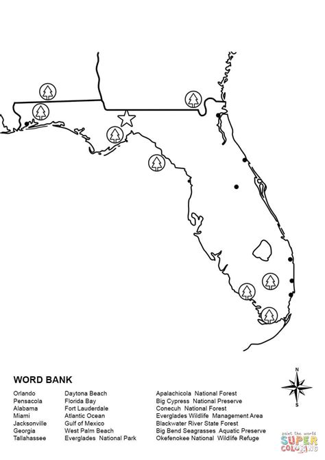 Florida Coloring Page Coloring Home Florida Coloring Pages