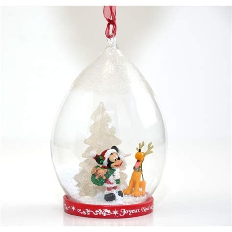 santa mickey and pluto light up christmas done ornament