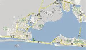 destin florida map beaches