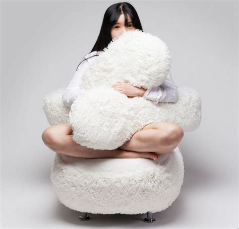 free hug sofa never be lonely again with this chair that gives hugs from