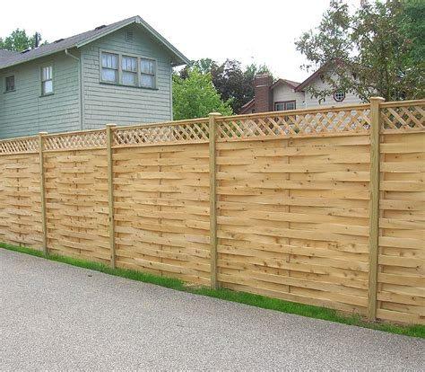 Design For Lattice Fence Ideas Wood Fence Designs Basketweave Wood Fence With Diagonal Lattice By Elyria Fence