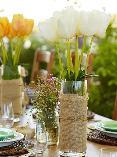 perk up the easter table with colorful tulips decorate