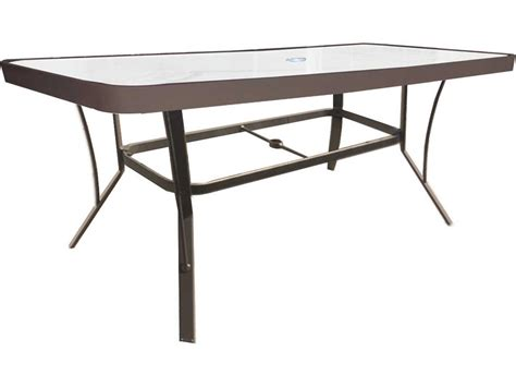 Rectangle Bar Table Suncoast Cast Aluminum 60 X 30 Rectangular Glass Top Bar Table With Umbrella 3060bkd