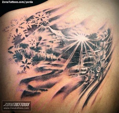 imagenes de paisajes tatuajes tatuaje de paisajes copos de nieve flores