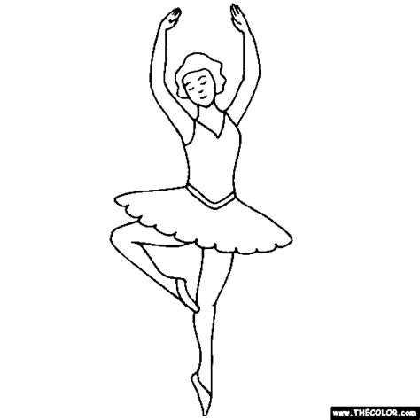 ballerina coloring page ballet coloring pages