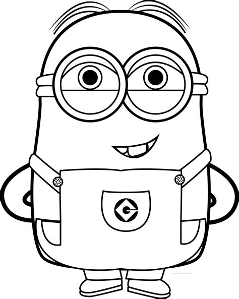 coloring page of a minion best funny minions quotes and picture coloring page