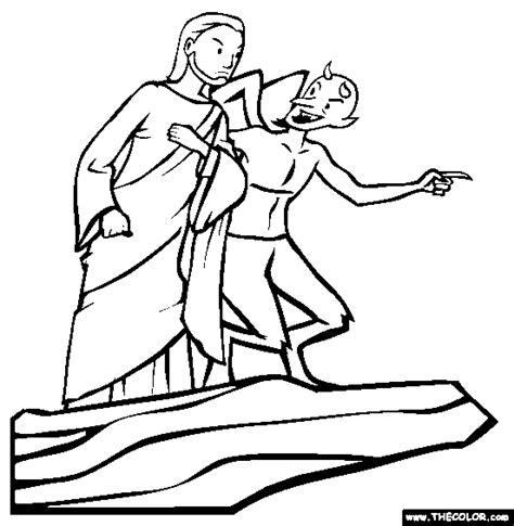 coloring page jesus being tempted lent clipart jesus tempted by the clipartfest