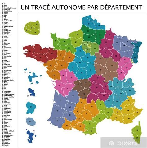 carte de france  vecteur par departement sticker