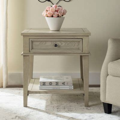 white washed wood end tables buy wood end tables from bed bath beyond