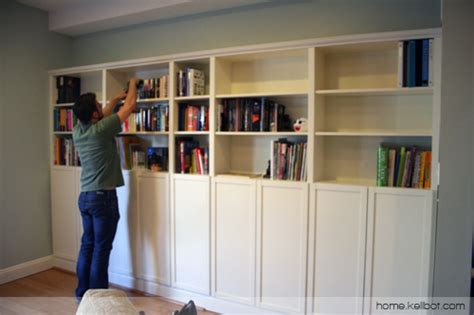 Billy Bookcase Built In With Doors 187 Built In Bookcases By Ikea Kellbot