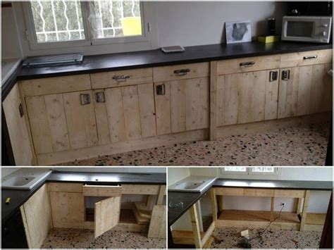 How To Make Rustic Kitchen Cabinets 25 Best Ideas About Pallet Kitchen Cabinets On Rustic Cabinet Doors Wood Cabinets