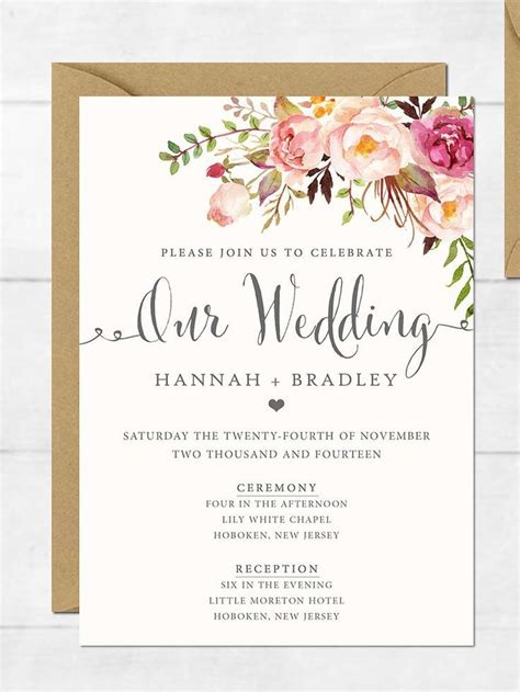 best free photo invitation software free printable wedding invitation templates