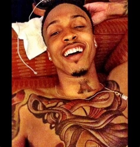 august alsina chest tattoo august alsina on his chest www pixshark