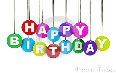 Banner Ulang Tahun 1 X 1m Free Design happy birthday colorful concept stock photos image 33017693