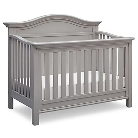 Grey Convertible Cribs Serta 174 Bethpage 4 In 1 Convertible Crib In Grey Www Buybuybaby