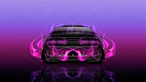 pink and black challenger dodge challenger back abstract car 2015
