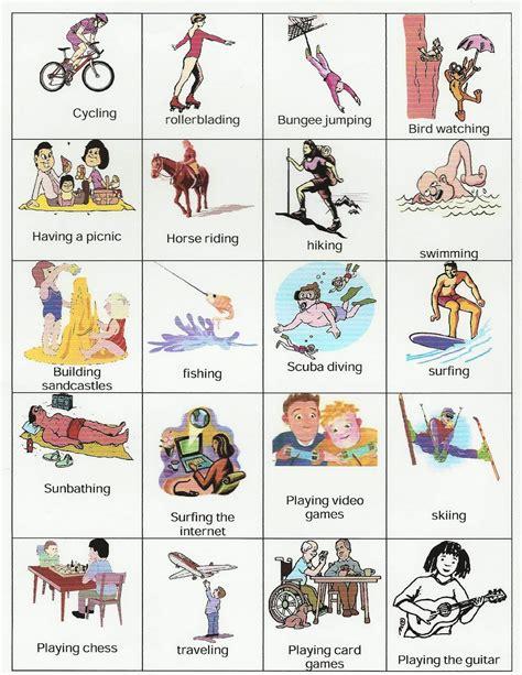 imagenes de hobbies en ingles help studying hobbies and activities
