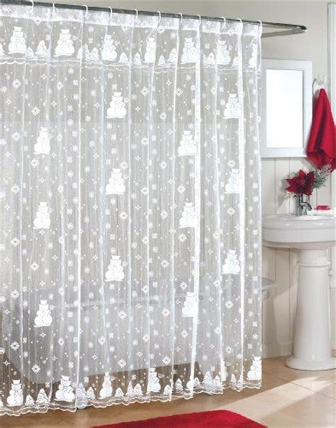 christmas lace curtains snowman lace fabric shower curtain christmas shower