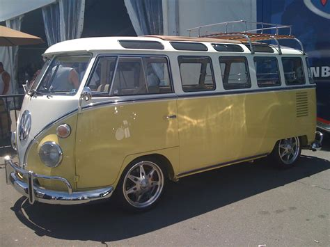 old volkswagen yellow white yellow vw bus 23 window 2nd gen classic cars