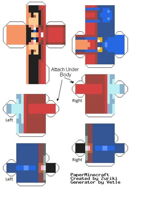 How To Make A Minecraft Person Out Of Paper - paper minecraft skins lol cut out paper mario minecraft