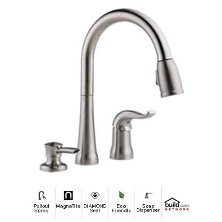 delta kate kitchen faucet delta 16970 sssd dst brilliance stainless kate pullout