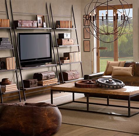 Chestnut Bookcase Restoration Hardware Media Eclectic Furniture