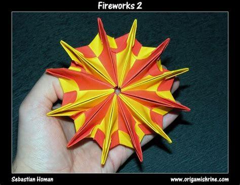 Origami Fireworks Diagram - origami fireworks 2 origami modular