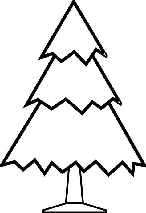 christmas tree clipart black and white clipart panda