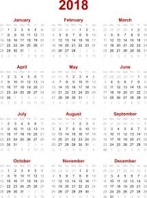 Calendar 2018 Png File 2018 Calendar Png Transparent Images Png All