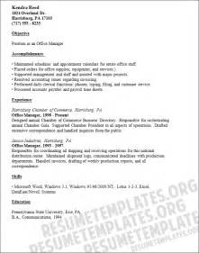Resume Templates For Office by Office Manager Resume Template Responsible For
