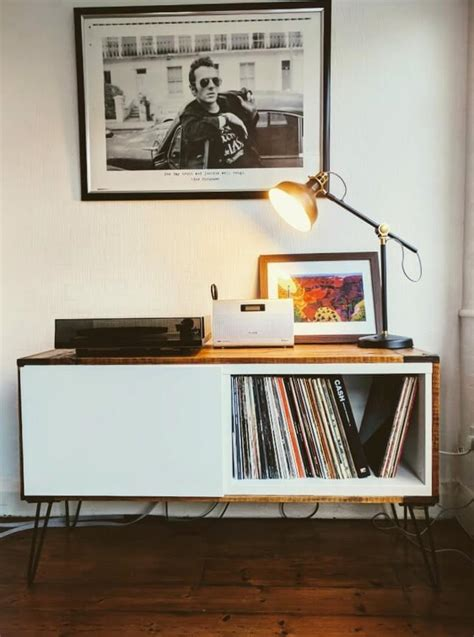 record player cabinet ikea got best 197 covered a record player stand ikea hackers
