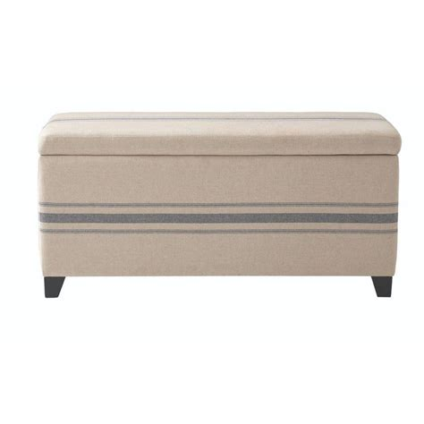 home depot shoe bench home decorators collection chambers 42 in w navy stripe