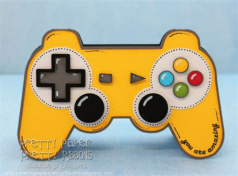 controller card template pretty paper pretty ribbons gamer s day sous