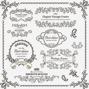 design frame cdr elegant vintage frame cdr vector vector miễn ph 237