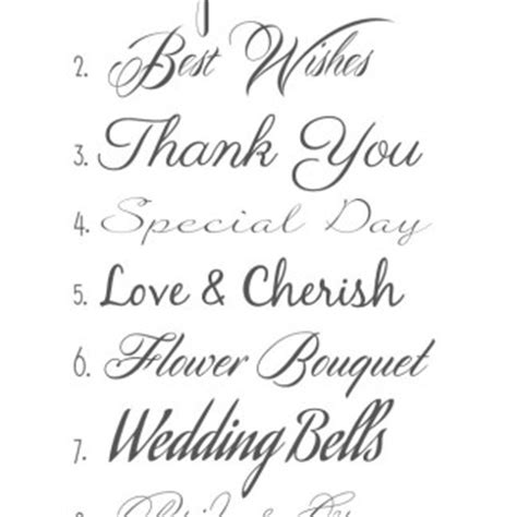 Wedding Clip Font by Wedding Font Clipart 56