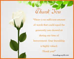 Sympathy Thank You Notes Wordings And Messages
