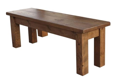 solid wood table and bench quot any size made quot solid wood chunky rustic plank pine table
